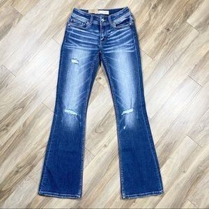 NWT BKE Stella Mid Rise Boot Cut Stretch Jeans 26